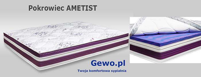 Materac Cortina Visco Lux 100x200 cm ATM piankowy termoelastyczny - pokrowiec AMETIST