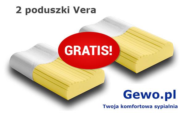 Materac Capri H2/H3 90x200 cm ATM wysokoelastyczny, piankowy, termoelastyczny Mega Gratis - poduszka Vera