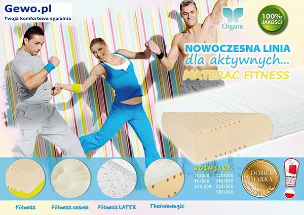 Materac Hevea Fitness Cosmo lateksowy rehabilitacyjny antyalergiczny wysokoelastyczny