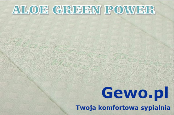 Pokrowiec aloe green power Aegis-Logo-Materac do spania Hevea Topper Lateks nawierzchniowy lateksowy rehabilitacyjny antyalergiczny + Mega Gratisy