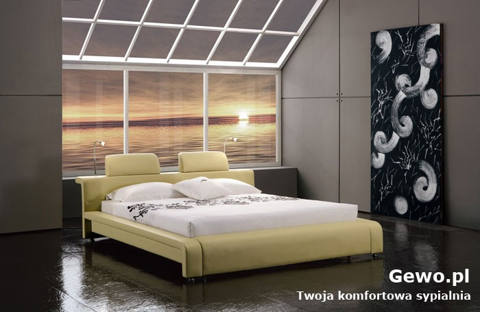 Łóżko tapicerowane do sypialni Gewo 115 180x200 cm