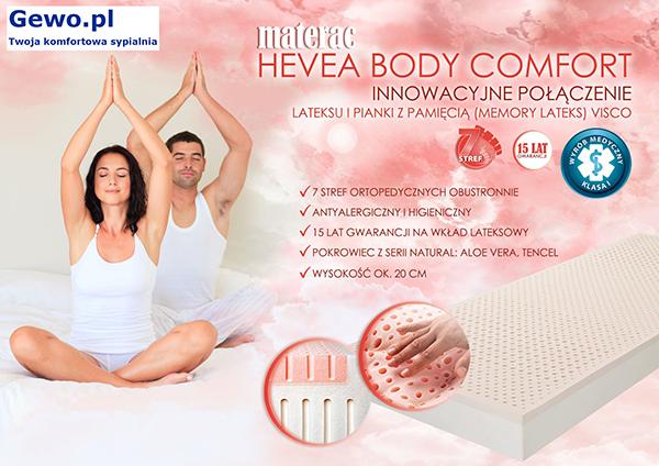 Materac lateksowy rehabilitacyjny antyalergiczny Hevea Body Comfort
