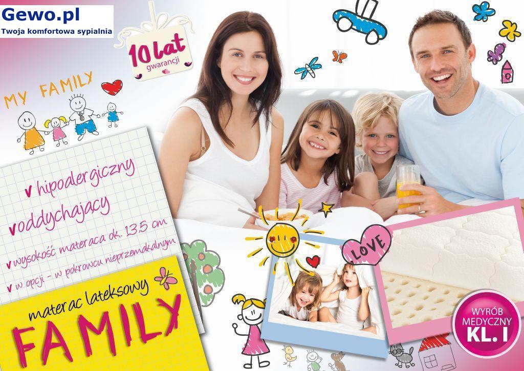 Materac lateksowy rehabilitacyjny antyalergiczny Hevea Family