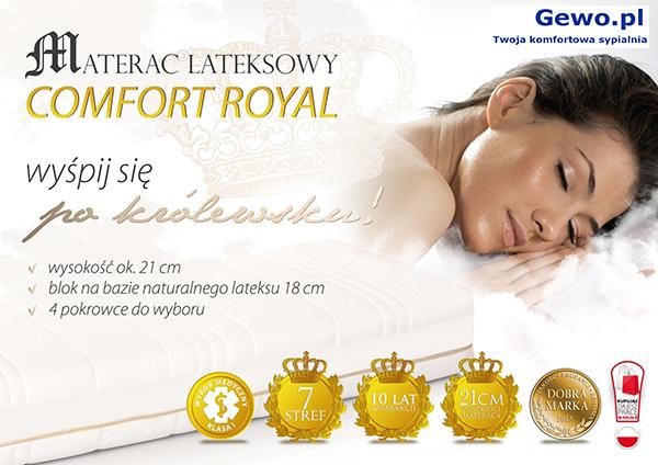 Materac lateksowy rehabilitacyjny antyalergiczny Hevea Comfort Royal