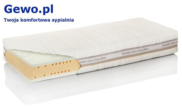Materac do spania Hevea Thermomagic wysokoelastyczny lateksowy rehabilitacyjny antyalergiczny + Mega Gratisy