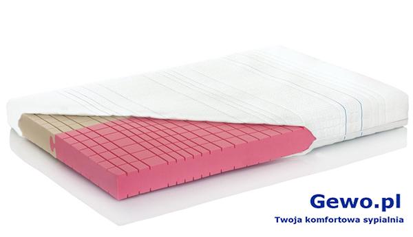 Materac do spania Dualsleep Hevea Fitnes Amore 160x200 cm lateksowy rehabilitacyjny antyalergiczny + Mega Gratisy
