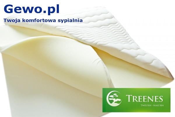 Materac do spania Treenes Exclusive Visco Double Gold 25 ortopedyczny piankowy wysokoelastyczny - gewo.pl