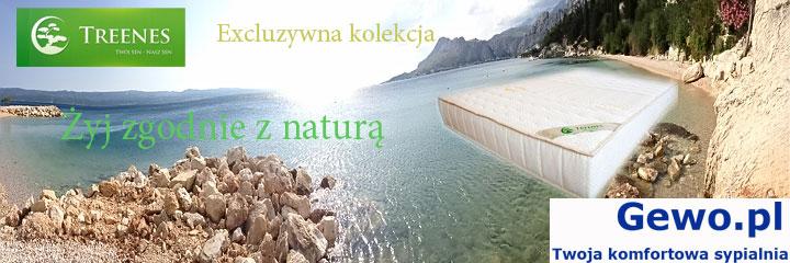 Materac do spania Treenes Exclusive Visco Double Gold 27 ortopedyczny piankowy wysokoelastyczny - gewo.pl
